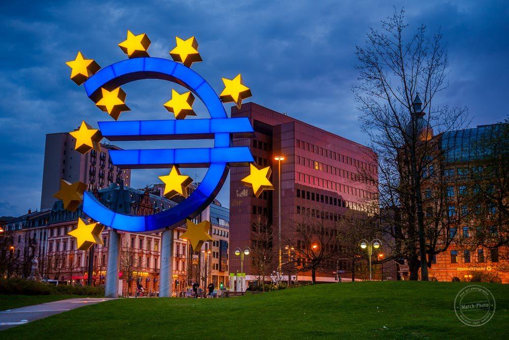 euro ezb frankfurt europa finanzmetropole banken